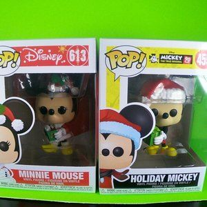 minnie and mickey mouse funko pops